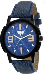Fadiso Fashion FF-1078 DENIM Sporty Analog Watch  - For Boys