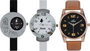 Frida Designer VOLGA Beautiful New Branded Type Watches Men and Women Combo386 VOLGA Band Analog Watch  - For Couple