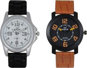 Volga Branded Leather Quality Designer Dial Diwali Special Combo13 Designer Sport Looks WaterProof Mens Watch Analog Watch  - For Men