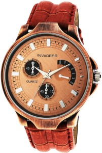 Invaders Carbon-Copper Carbon Analog Watch  - For Men