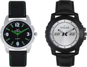 Volga Branded Leather Quality Designer Dial Diwali Special Combo525 Designer Sport Looks WaterProof Mens Watch Analog Watch  - For Men