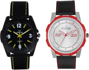 Volga Branded Leather Quality Designer Dial Diwali Special Combo340 Designer Sport Looks WaterProof Mens Watch Analog Watch  - For Men
