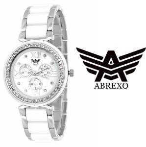 Abrexo Abx-703SLVWHT Dazzle Analog Watch  - For Women