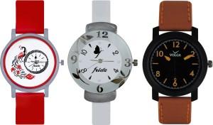 Frida Designer VOLGA Beautiful New Branded Type Watches Men and Women Combo753 VOLGA Band Analog Watch  - For Couple