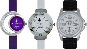 Frida Designer VOLGA Beautiful New Branded Type Watches Men and Women Combo704 VOLGA Band Analog Watch  - For Couple