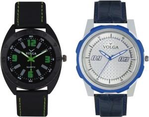 Volga Branded Leather Quality Designer Dial Diwali Special Combo364 Designer Sport Looks WaterProof Mens Watch Analog Watch  - For Men