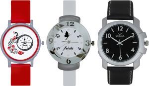 Frida Designer VOLGA Beautiful New Branded Type Watches Men and Women Combo769 VOLGA Band Analog Watch  - For Couple