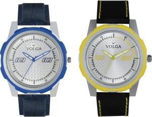 Volga Branded Leather Quality Designer Dial Diwali Special Combo665 Designer Sport Looks WaterProof Mens Watch Analog Watch  - For Men