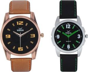 Volga Branded Leather Quality Designer Dial Diwali Special Combo439 Designer Sport Looks WaterProof Mens Watch Analog Watch  - For Men