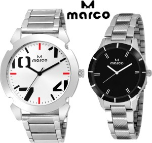 Marco elite combo 1001 slv ch 65 blk Analog Watch  - For Men