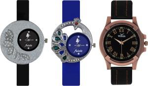 Frida Designer VOLGA Beautiful New Branded Type Watches Men and Women Combo239 VOLGA Band Analog Watch  - For Couple