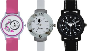 Frida Designer VOLGA Beautiful New Branded Type Watches Men and Women Combo638 VOLGA Band Analog Watch  - For Couple