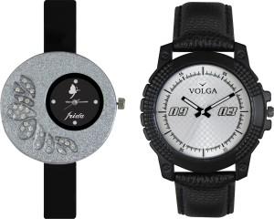 Volga Designer FVOLGA Beautiful New Branded Type Watches Men and Women Combo32 VOLGA Band Analog Watch  - For Couple