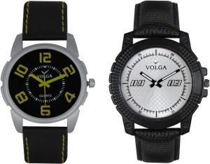 Volga Branded Leather Quality Designer Dial Diwali Special Combo508 Designer Sport Looks WaterProof Mens Watch Analog Watch  - For Men