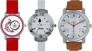 Frida Designer VOLGA Beautiful New Branded Type Watches Men and Women Combo761 VOLGA Band Analog Watch  - For Couple