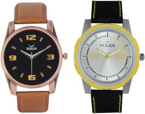 Volga Branded Leather Quality Designer Dial Diwali Special Combo456 Designer Sport Looks WaterProof Mens Watch Analog Watch  - For Men