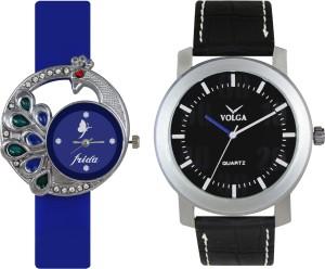 Volga Designer FVOLGA Beautiful New Branded Type Watches Men and Women Combo41 VOLGA Band Analog Watch  - For Couple
