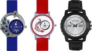Volga Designer FVOLGA Beautiful New Branded Type Watches Men and Women Combo134 VOLGA Band Analog Watch  - For Couple