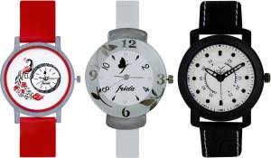 Frida Designer VOLGA Beautiful New Branded Type Watches Men and Women Combo750 VOLGA Band Analog Watch  - For Couple
