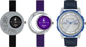 Volga Designer FVOLGA Beautiful New Branded Type Watches Men and Women Combo97 VOLGA Band Analog Watch  - For Couple