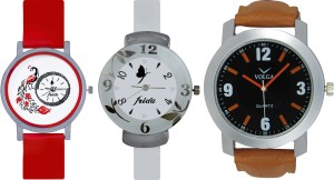 Frida Designer VOLGA New Branded Type Watches Men and Women Combo762 VOLGA Frida Couple Analog Watch  - For Couple