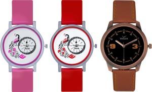Frida Designer VOLGA Beautiful New Branded Type Watches Men and Women Combo607 VOLGA Band Analog Watch  - For Couple