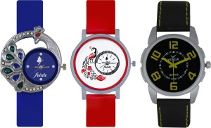 Frida Designer VOLGA Beautiful New Branded Type Watches Men and Women Combo500 VOLGA Band Analog Watch  - For Couple