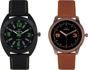 Volga Branded Leather Quality Designer Dial Diwali Special Combo344 Designer Sport Looks WaterProof Mens Watch Analog Watch  - For Men