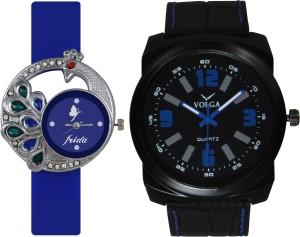 Frida Designer VOLGA Beautiful New Branded Type Watches Men and Women Combo63 VOLGA Band Analog Watch  - For Couple