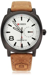 Curren SR Prsnl 8 White Analog Watch  - For Boys