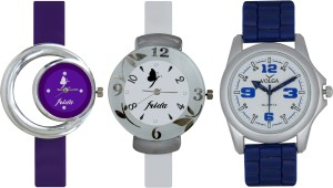 Frida Designer VOLGA Beautiful New Branded Type Watches Men and Women Combo705 VOLGA Band Analog Watch  - For Couple