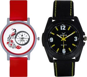 Frida Designer VOLGA Beautiful New Branded Type Watches Men and Women Combo159 VOLGA Band Analog Watch  - For Couple