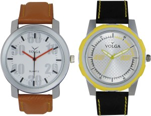 Volga Branded Leather Quality Designer Dial Diwali Special Combo546 Designer Sport Looks WaterProof Mens Watch Analog Watch  - For Men