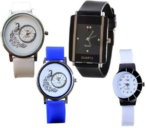 Rage Enterprise RE peacock print,square,chand Analog Watch  - For Women