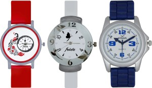 Frida Designer VOLGA Beautiful New Branded Type Watches Men and Women Combo742 VOLGA Band Analog Watch  - For Couple