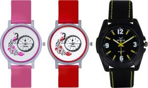 Frida Designer VOLGA Beautiful New Branded Type Watches Men and Women Combo603 VOLGA Band Analog Watch  - For Couple