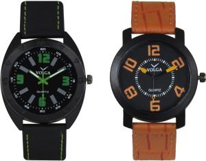 Volga Branded Leather Quality Designer Dial Diwali Special Combo343 Designer Sport Looks WaterProof Mens Watch Analog Watch  - For Men