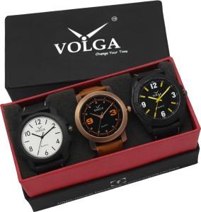 Volga VLW05-13-17-21 Mens Leather Belt Combo With Designer Stylish Branded Sport box Analog Watch  - For Men