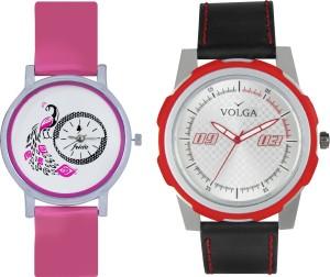 Volga Designer FVOLGA Beautiful New Branded Type Watches Men and Women Combo52 VOLGA Band Analog Watch  - For Couple