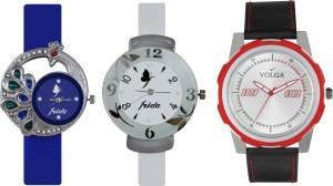 Volga Designer FVOLGA Beautiful New Branded Type Watches Men and Women Combo146 VOLGA Band Analog Watch  - For Couple