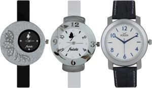 Frida Designer VOLGA Beautiful New Branded Type Watches Men and Women Combo375 VOLGA Band Analog Watch  - For Couple