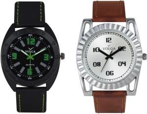 Volga Branded Leather Quality Designer Dial Diwali Special Combo359 Designer Sport Looks WaterProof Mens Watch Analog Watch  - For Men