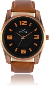 Volga VLW050022 Partywear Leather belt With Designer Stylish Branded Fancy box Analog Watch  - For Men