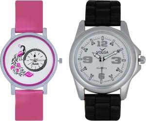 Frida Designer VOLGA Beautiful New Branded Type Watches Men and Women Combo75 VOLGA Band Analog Watch  - For Couple