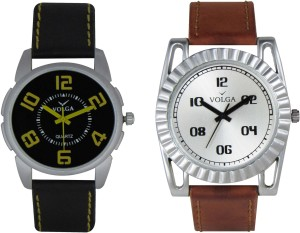 Volga Branded Leather Quality Designer Dial Diwali Special Combo506 Designer Sport Looks WaterProof Mens Watch Analog Watch  - For Men