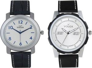 Volga Branded Leather Quality Designer Dial Diwali Special Combo167 Designer Sport Looks WaterProof Mens Watch Analog Watch  - For Men