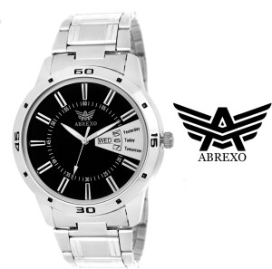 Abrexo Abx 1157-BK-SLV Analog Watch  - For Men