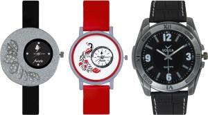 Frida Designer VOLGA Beautiful New Branded Type Watches Men and Women Combo361 VOLGA Band Analog Watch  - For Couple