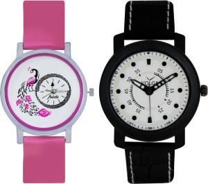Frida Designer VOLGA Beautiful New Branded Type Watches Men and Women Combo84 VOLGA Band Analog Watch  - For Couple