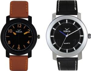 Volga Branded Leather Quality Designer Dial Diwali Special Combo386 Designer Sport Looks WaterProof Mens Watch Analog Watch  - For Men